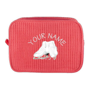 Personalized Cosmetic Bag with Initial and Skates