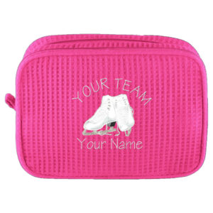 18ee4aa56275 Personalized Cosmetic Bag with Team, Skates and Name | Personalized Skaters