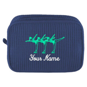 Personalized Cosmetic Bag with Spirals and Name